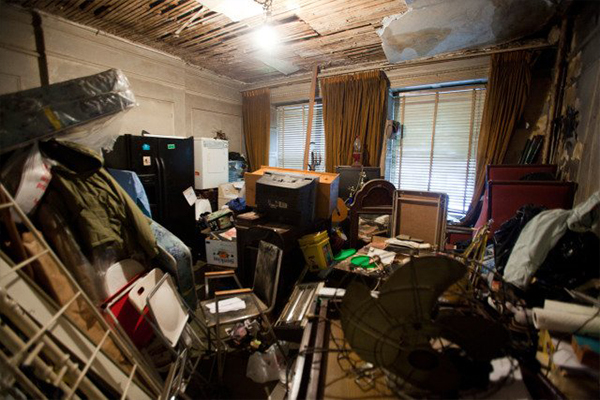 An image showing a messy house