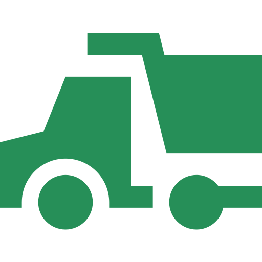 An icon depicting a tipper